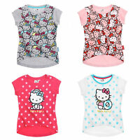 Hello Kitty T Shirt Top Girls Age 4 6 8 10 Years Brand New 2015 Official Cotton