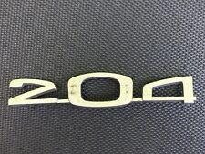PEUGEOT 204 sigle embleme logo insigne monogramme hayon coffre en aluminium 2