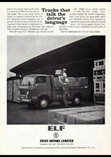 "1964 ISUZU ELF DIESEL TRUCK AD A2 CANVAS PRINT POSTER FRAMED 23.4""x16.5"""