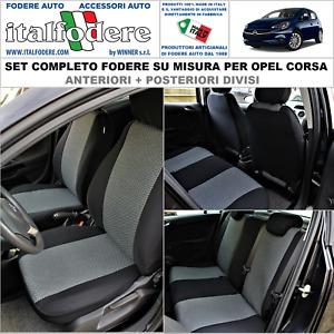 FODERE COPRISEDILI Opel Corsa D SU MISURA C/LOGHI Fodera Foderine Set Completo