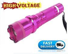 Pink 990 Million Volt Rechargeable Stun Gun Super Bright LED light