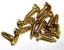 12 Pickguard Mounting Screw GOLD 4 Fender Gibson Ibanez Guitar Bass Back Plate
