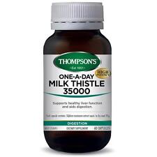 THOMPSON'S MILK THISTLE 35000 ONE-A-DAY 60 CAPSULES *NEW* AUST SELLER