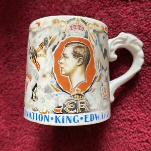 Vintage Dame Laura Knight Edward VIII Coronation Mug 1937 3.25 Inches High