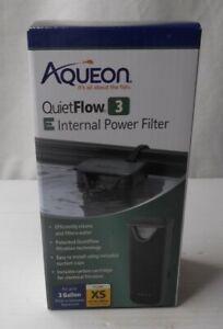 Aqueon QuietFlow 3 E Internal Power Filter 3 gallon XS Auto Start - 25 gph cap.