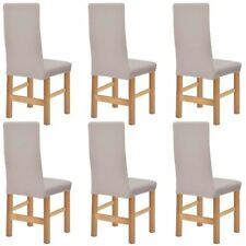 Vidaxl fundas Elásticas para sillas con respaldo 6 unidades en varios colores beige
