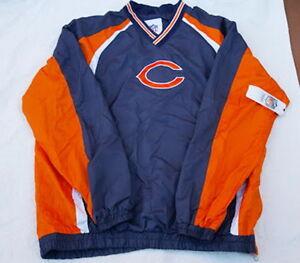 CHICAGO BEARS JACKET WINDBREAKER PULLOVER LT WEIGHT COAT NFL NEW NWT SIZE MEDIUM