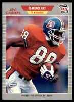 1989 ProSet SILVER #107 Clarence Kay TE Denver Broncos RARE / Georgia Bulldogs