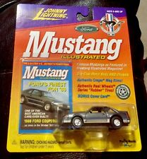 🏁 JOHNNY LIGHTNING MUSTANG ILLUSTRATED 1988 FORD COUPE 5.0 MUSCLE CAR 🏁