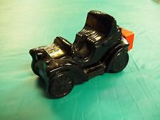 Vintage Black Glass Buggy Car Electric Charger After Shave Bottle Avon 1970s?