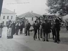 Mule Carts Langon Gironde Social Hist Superb Era Postcard France