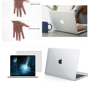 """Clear Laptop Hard Case Screen Cover For 2020 Macbook Air Pro 11"""" 12"""" 13"""" 15"""" 16"""""""