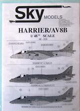 Skymodels 1/48 48028  BAe Harrier + AV8B Harrier decal set