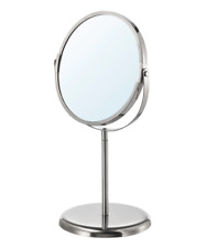 NEW IKEA Trensum 2-Sided Stainless Steel Mirror Makeup Shaving Magnifying Gift!