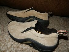 7.5/38 MERRELL JUNGLE Moc Classic Taupe Slip On Suede Walking Hiking Shoes