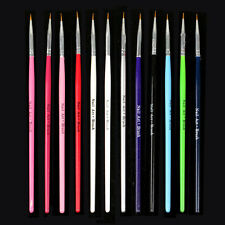 12Pcs Colorful Nail Art Design Brush Pen Fine Details Tips Drawing Paint Set