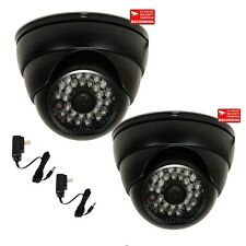 2xCCTV Outdoor SONY CCD IR Day Night Wide Angle Vandal Proof Security Camera cnp