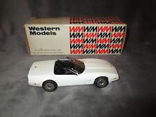 Western Models WP 114 1986 Chevrolet Corvette Roadster White - England