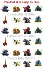 24x DINO TRUX Mix Edible Wafer Cupcake Toppers Pre Cut Ready to Use DINOTRUX