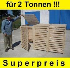 Mülltonnen Box Müllbox für 2 Tonnen Müllcontainer Massivholz NEU Top Angebot!!!