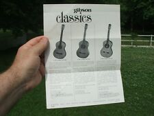 Vintage 60's Gibson Classical Guitar One Sheet Flyer Brochure Catalog CASE CANDY
