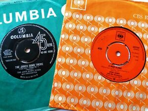 JOHN BARRY Ipcress File James Bond VINYL 45's Cult Film Themes Soundtracks 007