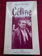 CELINE - Paul del PERUGIA - Nouvelles Editions Latines - 1987