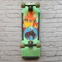Vintage 80s Action Sports Into The Fire Skateboard Complete
