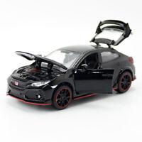 1:32 Scale Honda Civic Type R Model Car Diecast Toy Vehicle Pull Back Kids Black