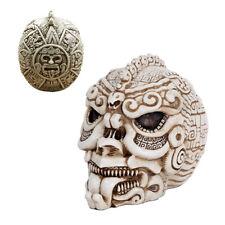 Stone Aztec Mesoamerican Calendar Skull Aztlan Tenochtitlan Maya Sun Stone
