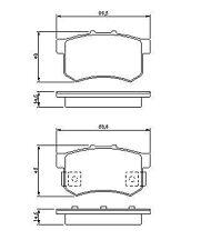 Rear Brake Pad Set GENUINE Honda Prelude 2.0 16V 2.2I 16V Vtec 2.3I L3 92-00