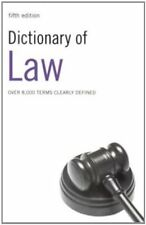 Dictionary of Law New Paperback Book A&C Black