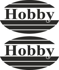 2 x Oval Hobby Motorhome Caravan Vinyl Stickers cool vinyl laptop Decal