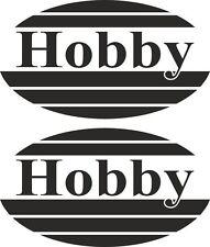 2 x Oval Hobby Motorhome Caravan Vinyl Stickers cool vinyl laptop Decal