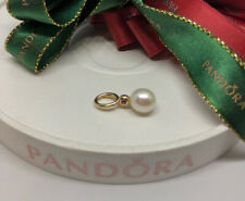 Pandora Pearl with Pink Sapphire 14ct Gold Pendant Charm 350174PSA Genuine