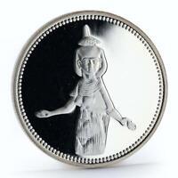 Egypt 5 pounds Guardian Goddess Serket proof silver coin 1993