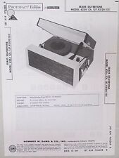 Vtg Sams Photofact Folder Radio Parts Manual Sears Silvertone 6254 Ch.137.93120