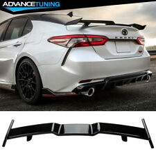 Fits 18-20 Toyota Camry Rear Spoiler Abs Gloss Black