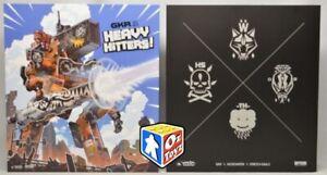 GKR: Heavy Hitters _Board Card Game *BRAND NEW* Kickstarter Pilot's Edition