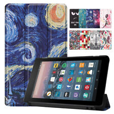 Pattern Auto Wake & Sleep Smart Stand Case For Amazon Kindle Fire 7 9th Gen 2019