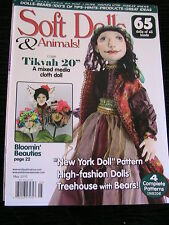 SOFT DOLLS & ANIMALS May 2010 cloth doll patterns~techniques~tips~magazine