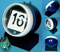 CLICK A DATE KULT TISCHKALENDER KUGEL DESIGN 70er OVP NEUWERTIG IN BOX | BLAU
