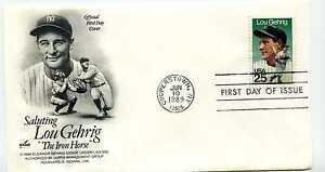 2417 Lou Gehrig, Artcraft, FDC