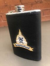 New listing Congressional C.C. Flask Of Leather & Stainless Steel 8 Oz, Whiskey flask New