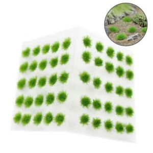 One Pack 50pcs Green Grass Clusters Model Scenery Railway Wargame Accessories