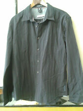 WHITE STAFF men Grey Striped Shirt Size L