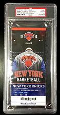 KRISTAPS PORZINGIS NEW YORK KNICKS MSG DEBUT FULL TICKET SLAB PSA GEM MINT 10