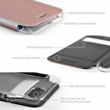 Case Apple iphone 7 Thin Wallet Clear Back and Glass Screen Protector - TWO PACK