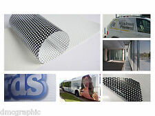 Digital Eco Solvente para imprimir una forma visión Window Film contravision Graphics