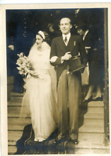 Mariage du prince Asturies à Lausanne, 1933 Vintage silver print Tirage argent